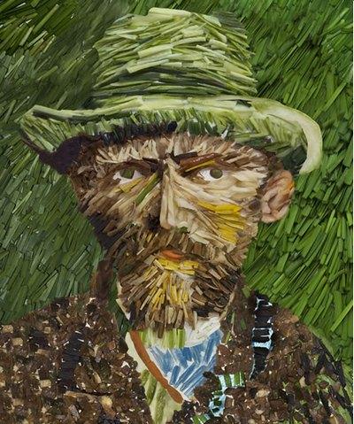 Репродукция с портрета Ван Гога