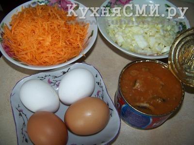 Фото 1 - продукты для закусочного торта