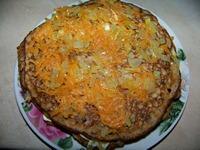 Делаем блинный торт с начинкой из овощей