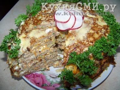 Дегустируем закусочный торт-салат из кильки в томате!