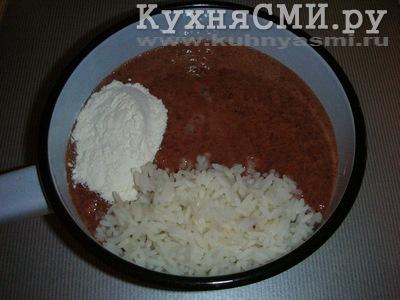 рисом с фото котлеты Печеночные с рецепт