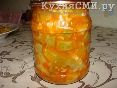 салат из кабачков с чесноком на зиму рецепт с фото