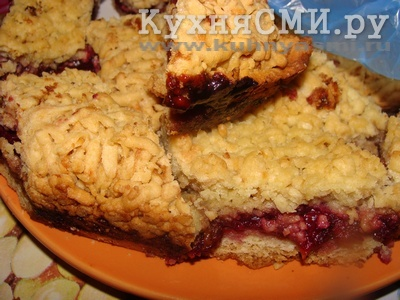 Печенье на терке с вареньем
