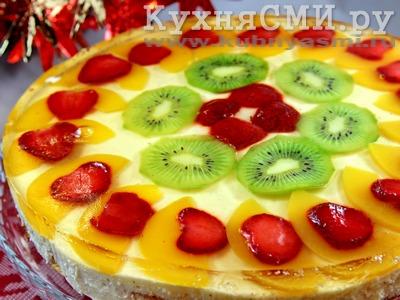Бисквитный торт с желе с фруктами рецепт пошагово
