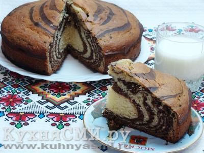 Пирог Зебра в разрезе
